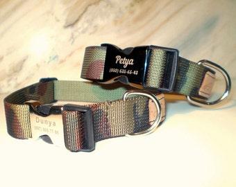 Personalized Nylon Camo Dog Collar Collar personalized camouflage