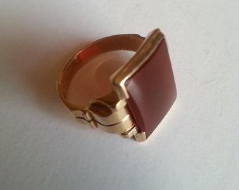 Men's Gold & Carnelian Ring