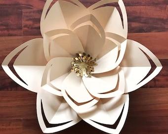 SVG Paper Flower Template, Digital Version, Including The Base - The Citroen