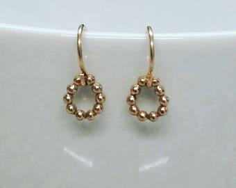 14kt gold fill earrings, gifts under 20, gold fill dot, gold dot, gold