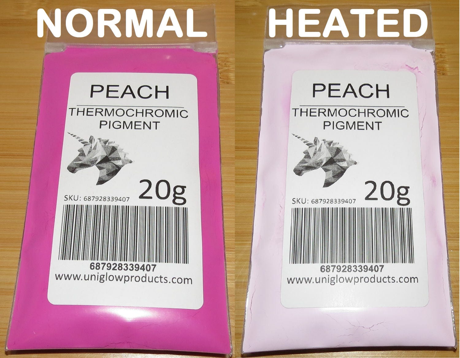 Heat Activated Paint Thermochromic Temperature Activated Pigment Peach Multiple