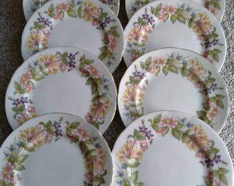 Set Of 10 Vintage Paragon Country Lane Tea/Side Plates