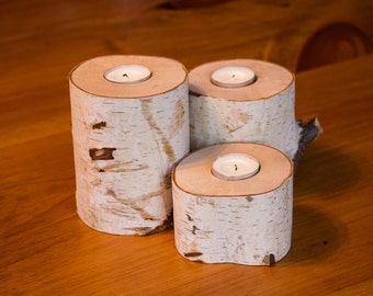 Three birches to a candle