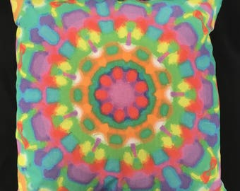 Fun colourful patterned cushion/pillow