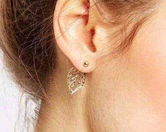 Sterling Silver Leaves Fall Earrings