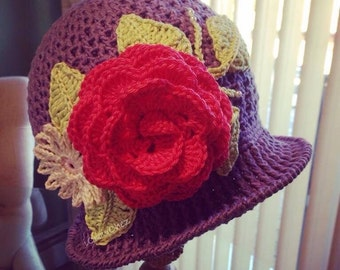 Crocheted Panama Spring Hat