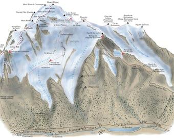 Mont Blanc 3D Routes Illustration