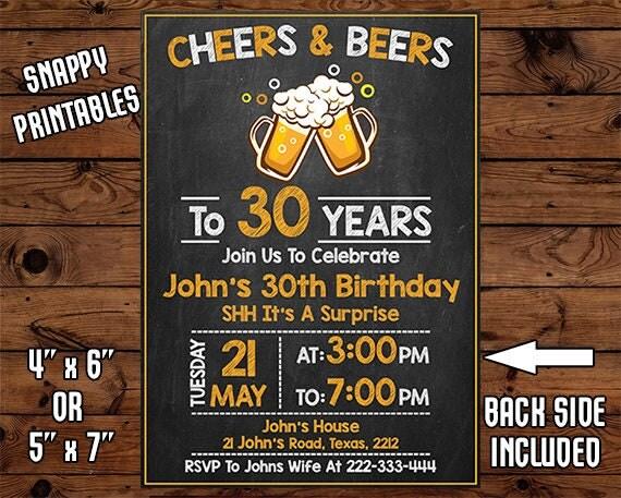 Surprise 30th Birthday Invitation For Men Birthday Invite – Surprise 30th Birthday Invites