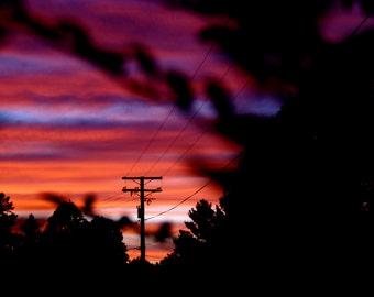 Colored Sunrise- Canvas Print