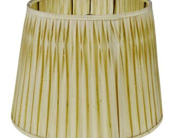 Vintage Pinch Pleated Fabric Tapered Lamp Shade