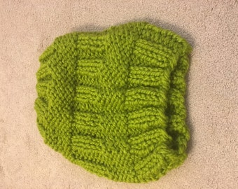 Acrylic knit green hat