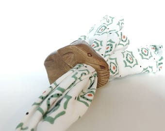 Animal Napkin Holders | Wooden Napkin Rings| Set of Animal Napkin Rings