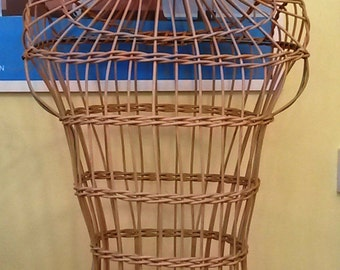 Vintage wicker male mannequin