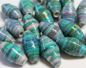 Recycled paper beads (18)