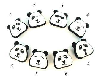 Cute Panda Emoji Key Chain | Pendant Panda Bag Charm | Panda Bag Trinket Pom Pom - SoftDecor