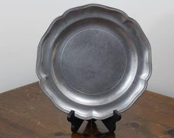 """Vintage Stede 12"""" Pewter Plate"""