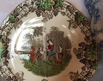Copeland Spode Byron Series Plate. Sandwich Plate. Vintage Copeland Spode plate.