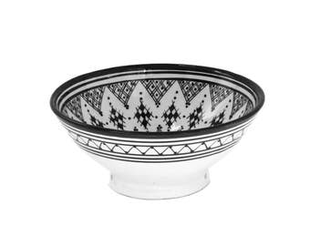 Henna Serving Bowl, Black Small
