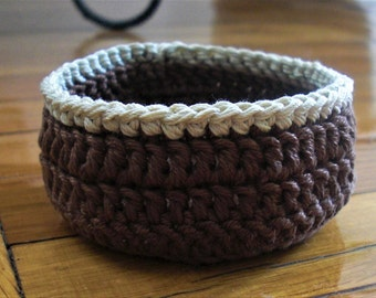 Crochet basket Crochet jewelry box Crochet bowl Storage basket Hand crochet basket crochet home decor