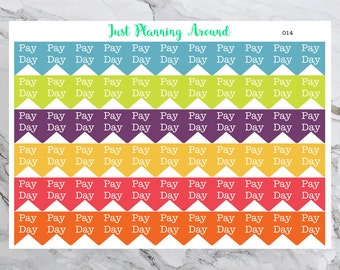 Payday Planner Stickers, Payday Flag Stickers, Payday Stickers, Pay day Sticker, Pay Day Planner Stickers