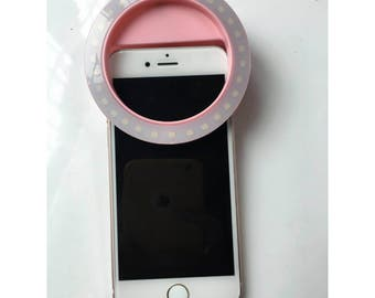 Pink rechargeable selfie ring light wedding bridal shower favor