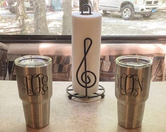 Curly Monogrammed Cup
