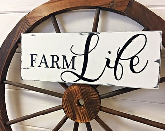 Farm Life Handcrafted Sign