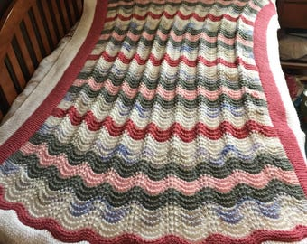 Light weight knitted throw
