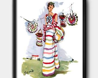 Schiaparelli · 1930s · Instant Download · Fashion · Illustration · Vintage · Printable #142