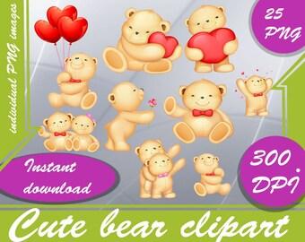 Cute bear clipart - Digital 300 DPI PNG Images,bear clipart ,teddy bear clip art ,clipart bear ,clip art ,teddy clipart ,clipart teddy bear