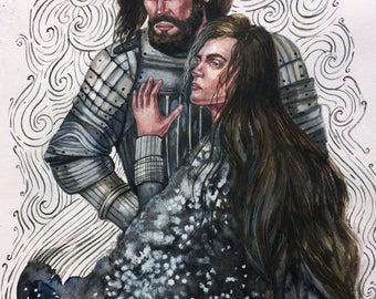 Knight & Princess REDUSED PRICE!!! by Agny Green middle ages history art
