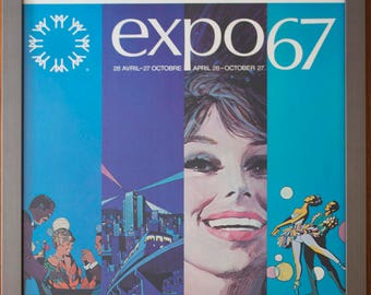 Expo 67 vintage poster -Originals-