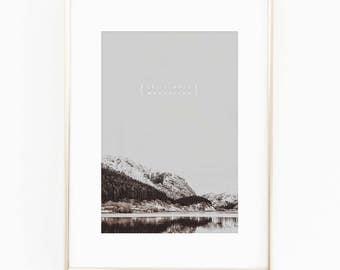 Print / Poster, 'Move Mountains', Wall Art, Modern, Minimal, Wall Decor, Home Decor, Inspirational Print, Quote Print, Scandinavian