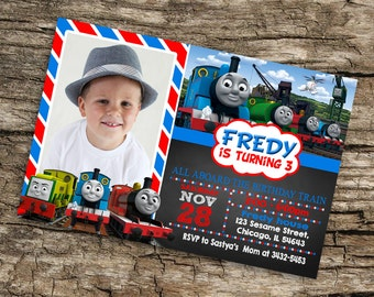 Train Invitation Birthday Party,Train Invitation Birthday,Invitation Train,Invitation Printable,Thomas Invitation,Thomas Party