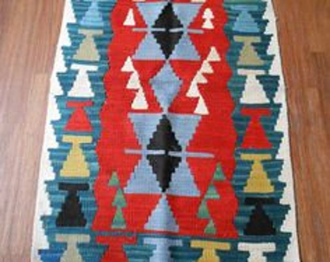 Hand Woven Rug,Kilim Rug,Hand Knotted Wool Rug,Area Rug,Anatolia Turkish Rug,Anatolian Rug,Wool Mat,Home Decor