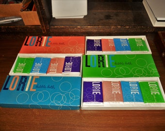 3 Full Boxes Vintage Rexall Drug Company 20 Packets Each Floral Bouquet Lorie Bubble Bath Water Softening By Lorie - Free Shipping
