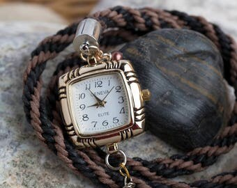 Braded Wrap Around Watch Bracelet