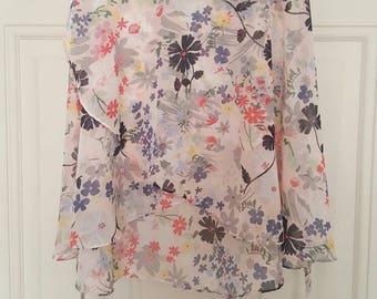 Multi coloured flowers ballet skirt
