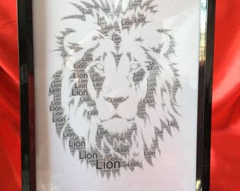 Lion word art