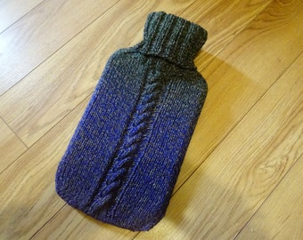 Hand Knit Colour Shift Hot Water Bottle Cozy