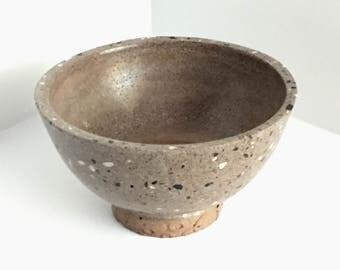 Brown Terrazzo Concrete Pedastal Bowl
