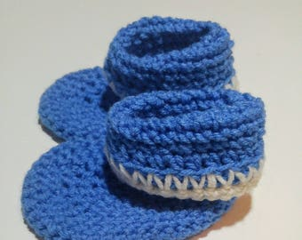 White Picket Baby Booties 12 months