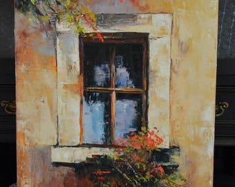 Painting Window in flowers