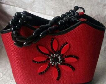 Beaded Red Handbag