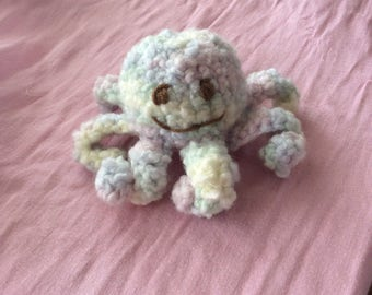 Stuffed Crochet Amigurumi Toy Octopus
