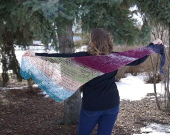 Crochet Asymetrical Shawl/Scarf