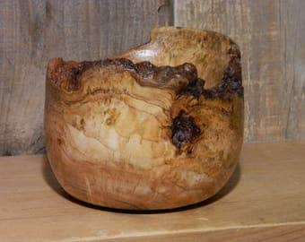 Live Edge Cherry Burl Bowl