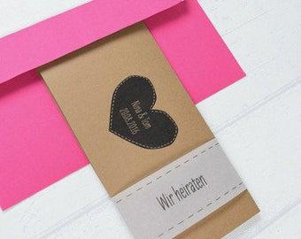 "Vintage wedding invitation card ""Maya"""