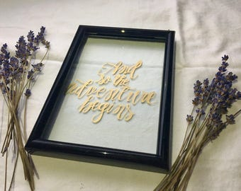 Custom Calligraphy Picture Frame - Wedding Decor - Modern Calligraphy - Glass Frame