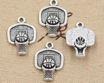 8 Piece Basketball Goal Charm